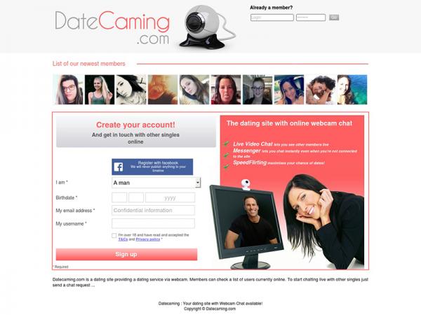 Date Caming : Les rencontres avec Chat et Webcam