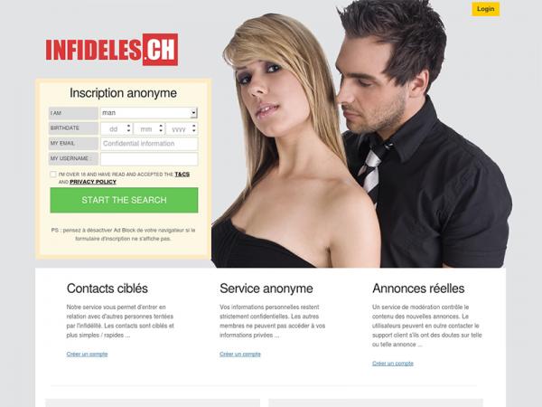 Infideles.ch : le rendez-vous des infidèles en Suisse 💋